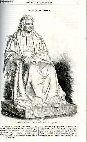 LE MAGASIN PITTORESQUE - Livraison n°05 - La statue de Montyon.: MAYET Charles et BEST Eugène.