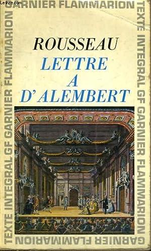LETTRE A D'ALEMBERT: ROUSSEAU J.-J.