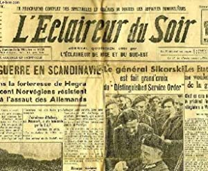L'ECLAIREUR DU SOIR, 22e ANNEE, N° 112, 21 AVRIL 1940: COLLECTIF