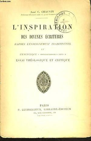 L'INSPIRATION DES DIVINES ECRITURES D'APRES L'ENSEIGNEMENT TRADITIONNEL: ABBE C. CHAUVIN