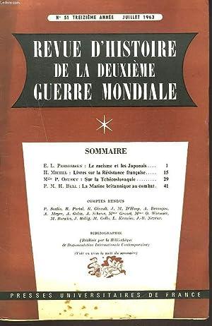 REVUE D'HISTOIRE DE LA DEUXIEME GUERRE MONDIALE: HENRI MICHEL (REDACTEUR