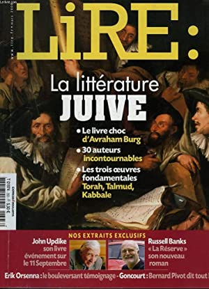 LIRE N°363, MARS 2008. LA LITTERATURE JUIVE.: COLLECTIF