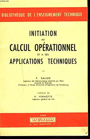 INITIATION AU CALCUL OPERATIONNEL ET A SES: F. SALLES