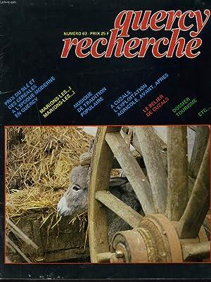 QUERCY RECHERCHE N° 63,: COLLECTIF
