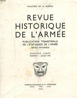 """N° 1 DE 1945 DE LA """"REVUE HISTORIQUE DE L'ARMEE"""". PUBLICATION TRIMESTRIELLE DE L..."""