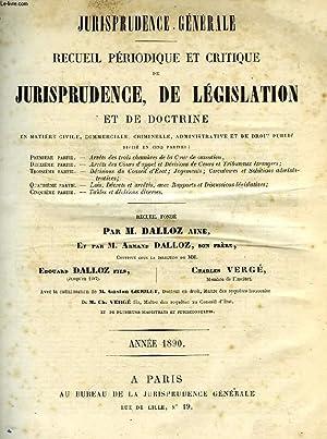 JURISPRUDENCE GENERALE, RECUEIL PERIODIQUE ET CRITIQUE DE JURISPRUDENCE, DE LEGISLATION ET DE ...