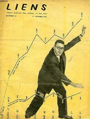 LIENS, N° 53, OCT. 1951, CAHIER MENSUEL DES LETTRES ET DES ARTS: COLLECTIF