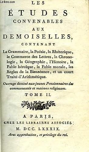 LES ETUDES CONVENABLES AUX DEMOISELLES, TOME II: COLLECTIF