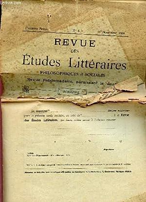 LA REVUE DES ETUDES LITTERAIRES PHILOSOPHIQUES ET SOCIALES / PREMIERE ANNEE - N°8 - 25 ...