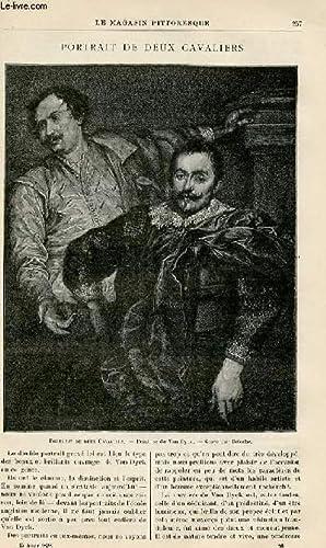 LE MAGASIN PITTORESQUE - Livraison n°16 - Portrait de deux cavaliers.: MAYET Charles et BEST Eugène...