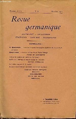 REVUE GERMANIQUE / ALLEMAGNE - ANGLETERRE - ETATS-UNIS - PAYS-BAS - SCANDINAVIE / DIXIEME ANNEE - N...