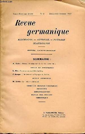 REVUE GERMANIQUE / ALLEMAGNE - ANGLETERRE - ETATS-UNIS - PAYS-BAS - SCANDINAVIE / ...