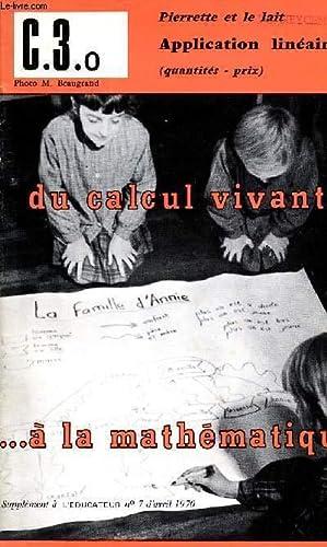 DU CALCUL VIVANT . A LA MATHEMATIQUE: COLELCT