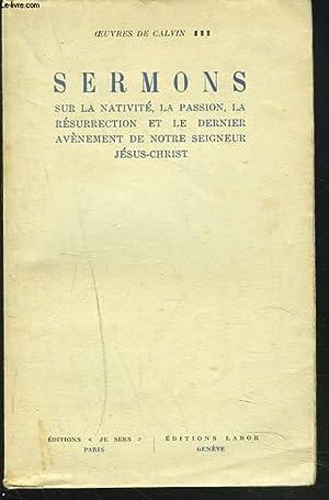 OEUVRES DE CALVIN III. SERMONS.: CALVIN MILLER