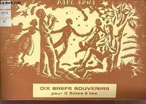DIX BREFS SOUVENIRS POUR 2 FLUTES A BEC.: ARMA PAUL