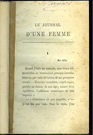 LE JOURNAL D'UNE FEMME: ANONYME