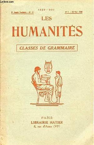 LES HUMANITES / CLASSES DE GRAMMAIRE / 2ème ANNEE SCOLAIRE - N°17 - ANNEE 1929...