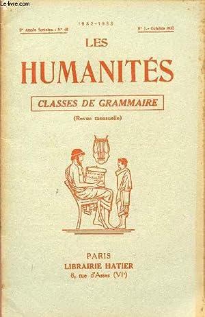 LES HUMANITES / CLASSES DE GRAMMAIRE / 5ème ANNEE SCOLAIRE - N°40 - ANNEE 1932...