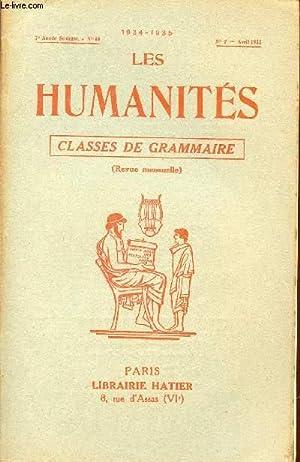 LES HUMANITES / CLASSES DE GRAMMAIRE / 7ème ANNEE SCOLAIRE - N°66 - ANNEE 1934...