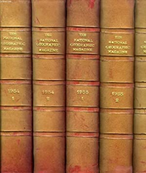 THE NATIONAL GEOGRAPHIC MAGAZINE, 1954-1974, 42 VOLUMES: COLLECTIF