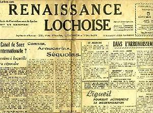 LA RENAISSANCE LOCHOISE, 10e ANNEE, N° 476, 5 SEPT. 1956: COLLECTIF