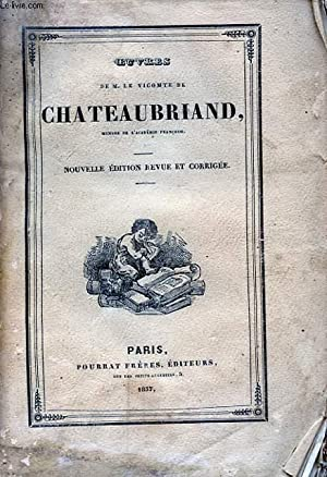 OEUVRES DE M. LE VICOMTE DE CHATEAUBRIAND TOME V ATALA: CHATEAUBRIAND