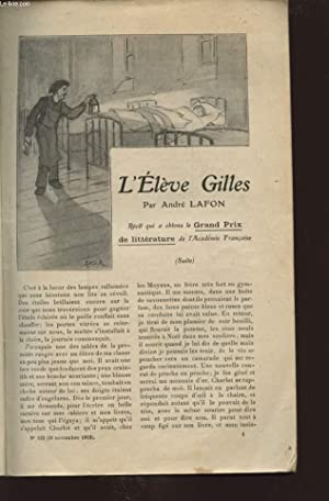 L ELEVE GILLES: ANDRE LAFFONT