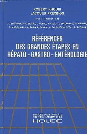 REFERENCES DES GRANDES ETAPES EN HEPATO GASTRO: ROBERT KHOURI ET