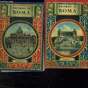 2 TOMES. RICORDO DI ROMA. TEXTE EN ITALIEN. FRANCAIS. ALLEMAND ESPAGNOL ANGLAIS.: COLLECTIF.