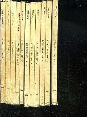LA VIE SPIRITUELLE ANNEE 1948 COMPLETE. DU N° 325 AU N° 335. HOMELIES POUR LE TEMPS DE NOEL...