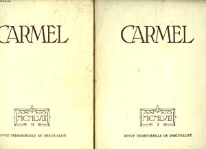 CARMEL ANNEE 1958 COMPLETE 4 FASCICULES. ROME: FABE R LE