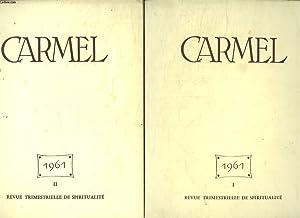 CARMEL ANNEE 1961 COMPLETE EN 4 FASCICULES. UNE AMITIE CELESTE. LA FOI DE LA MERE DE DIEU. ...