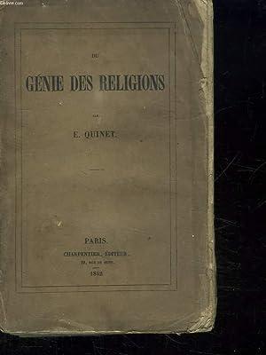 DU GENIE DES RELIGIONS.: QUINET E.