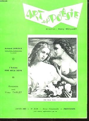ART ET POESIE N° 20 / 30. PRINTEMPS 1965. SOMMAIRE: MAURICE RABIN BESTIAIRE MODERNE ET ...
