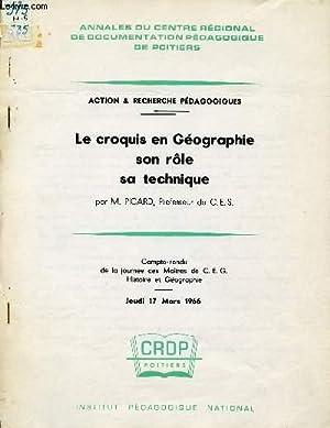 LE CROQUIS EN GEOGRAPHIE - SON ROLE - SA TECHNIQUE / ACTION ET RECHECHES PEDAGOGIQUES / ...