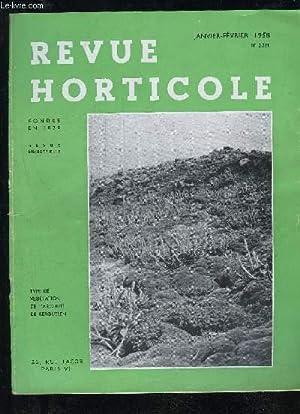 LA REVUE HORTICOLE 1958 N° 2221 -: COLLECTIF