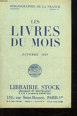 LOT DE 3 CATALOGUES LIBRAIRIE STOCK. N° 10 , 11 ET 12 OCTOBRE NOVEMBRE DECEMBRE 1957.: ...