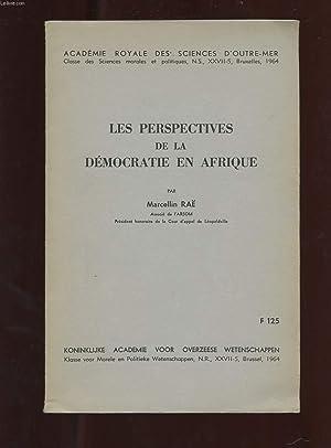 LES PERSPECTIVES DE LA DEMOCRATIE EN AFRIQUE: RAE MARCELLIN