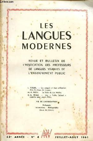 LES LANGUES MODERNES / REVUE ET BULLETIN DE L'ASSOCIATION DE LANGUES VIVANTES DE L'...