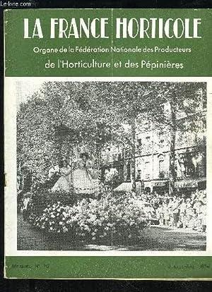 LA FRANCE HORTICOLE N° 70 - Marcel TURBAT.   Le Congrès de Vittel.Xe Congrès fédéra! de ...