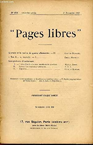 PAGES LIBRES / N°258 - CINQUIEME ANNEE / 9 DECEMBRE 1905.: COLLECTIF