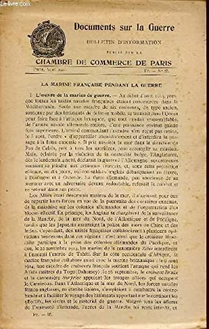 DOCUMENTS SUR LA GUERRE / BULLETIN D'INFORMATION / AOUT 1918 - N°85 / LA ...