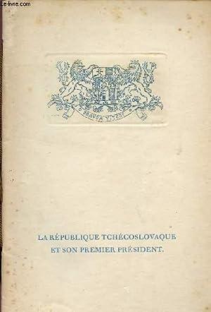 PLAQUETTE BIBLIOGRAPHIQUE DU PRESIDENT DE LA REPUBLIQUE TCHECOSLOVAQUE / LA REPUBLIQUE ...