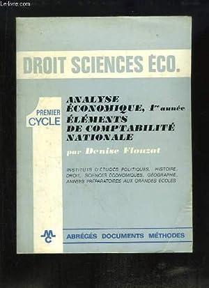 Droit Sciences Eco. Analyse économique, 1ère année. Eléments de ...