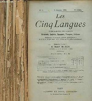 LES CINQ LANGUES / JOURNAL-REVUE DES LANGUES ANGLAISE, ALLEMANDE, ESPAGNOLE, ITALIENNE ET ...
