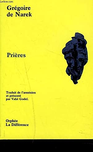 PRIERES: GREGOIRE DE NAREK