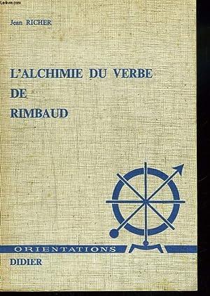 L'ALCHIMIE DU VERBE DE RIMBAUD ou LES: JEAN RICHER