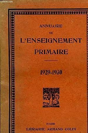 ANNUAIRE DE L'ENSEIGNEMENT PRIMAIRE: COLLECTIF