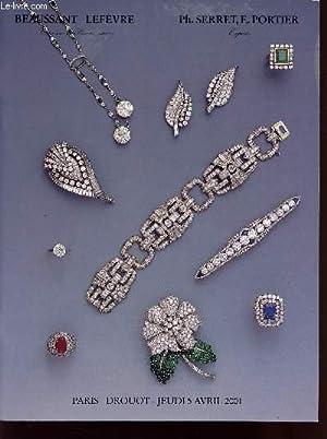 VENTE AUX ENCHERES / 5 AVRIL 2001 - DROUOT / BEAUX BIJOUX ANCIENS ET MODERNES.: BEAUSSANT...