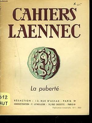 CAHIERS LAENNEC, PUBLICATION TRIMESTRIELLE N°1, 1955. LA: COLLECTIF